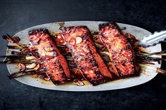 Broiled Salmon With Scallions and Sesame / Photo by Michael Graydon & Nikole Herriott