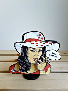 """The Smoking Lady with wobble head - """"Yeah, Whatever!"""" How I usually feel when I smoke weed too. Gable Boxes, Smoking Ladies, Little Flowers, Smoking Weed, Gag Gifts, Hats For Women, Minnie Mouse, Snow White, Funny Products"""
