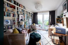How to Create a Maximalist Room that Feels Creative—Not Cluttered | Apartment Therapy Valspar Colors, Online Interior Design Services, Blue Kitchen Cabinets, Ikea Kitchen, 1930s House, Uk Homes, Furniture Arrangement, Decoration, Apartment Therapy