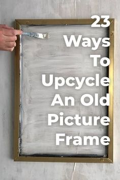 23 great things you didn't know you could do with old photo frames - UPCYCLING great. - 23 great things you didn't know you could do with old photo frames – UPCYCLING IDEAS, # - Upcycled Home Decor, Diy Home Decor, Repurposed Furniture, Diy Furniture, Upcycled Garden, Decor Room, Wall Decor, Garden Frame, Old Picture Frames