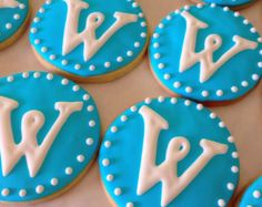 Items similar to Custom Letter Decorated Sugar Cookies Favors - 1 ...