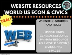 World History and US History and Civics and Economics Web Tools and Resources