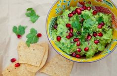 Food and Booze Combinations- Pomegranate Tequila Guacamole