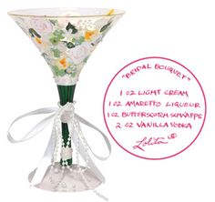 Celebrate your marriage and the many wonderful years to follow with the Lolita Bridal Bouquet Martini Glass as part of her Love My Martini collection.  $24