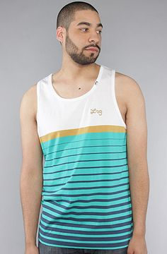 The Pack Stripe Tank Top in Green by LRG