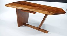 George Nakashima Minguren Desk | From a unique collection of antique and modern desks and writing tables at https://www.1stdibs.com/furniture/tables/desks-writing-tables/