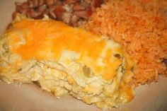 Green Chili Chicken Enchilada Casserole.  Fat Free Substitutions make this diabetic friendly ;D