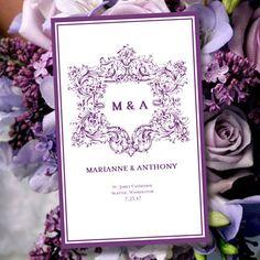 Printable Wedding Program Template Vienna  by WeddingTemplates, $10.00