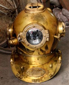 Vintage Style US Navy Mark V Divers Diving Helmet Antique Scuba SCA Full Size 18