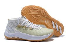 best sneakers e8285 f0a52 adidas Dame 4 Un-Dyed White Gum For Sale, Portland Trail Blazers superstar, Damian  Lillard, debuts his fourth signature sneaker.