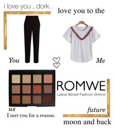 """""""www.romwe.com"""" by ermina000 ❤ liked on Polyvore featuring The Row and Morphe"""