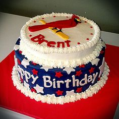 St. Louis Cardinals Birthday Cake