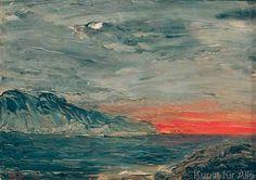 August Johan Strindberg - Sunset