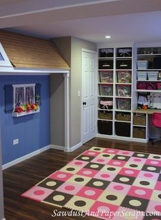 Amazing playroom in the basement
