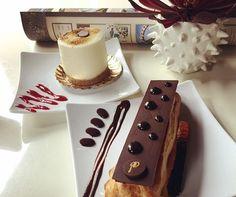 Single Cheesecake and a Chocolate Eclair= YUM!