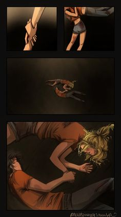 Percy Jackson and Annabeth Chase in Tartarus