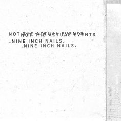 Not The Actual Events by Nine Inch Nails. Listened to on December 27.