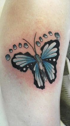 How awesome is this tattoo baby footprint butterfly