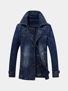 Looking for Idopy Men`s Vintage Label Collar Denim Jeans Jacket Trench Coat ? Check out our picks for the Idopy Men`s Vintage Label Collar Denim Jeans Jacket Trench Coat from the popular stores - all in one. Long Bomber Jacket, Long Denim Jacket, Denim Jackets, Rugged Style, Georgia, Mode Mantel, Casual Mode, Trench Coat Men, Moda Masculina