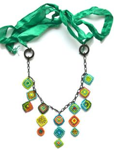 How to make Necklace - Seed Bead Patchwork - DIY Craft Project with instructions from Craftbits.com