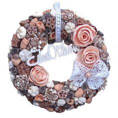 Terméses ajtódísz Burlap Wreath, Diy And Crafts, Easter, Spring, Vintage, Design, Decor, Flowers, Decoration