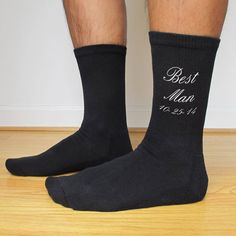 Custom Wedding Party Socks - set of 3 Men's Large - Best Man - Groom - Groomsmen on Etsy, $28.50
