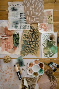 FREE ONLINE CLASS - Join Laura Horn for Abstract Collage Creations. Make marks, splash paint and create mini collages.