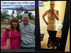 Clare lost 14 pounds and 9 inches in 2 months with Skinny Fiber! WTG Clare!   Order here: http://searth52.SkinnyFiberPlus.com/