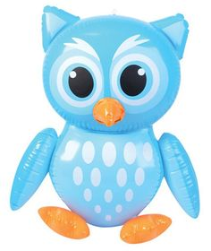 Novelty Inflatable Owls Just £2.99 - This novelty Inflatable Owl is a hoot!  Great for themed parties and bedroom decorations. They also make really fun toys in the garden or swimming pool. To inflate the owl; simply blow up via the mouth piece! Made of durable rubber with high quality print throughout. Comes with a loop to hang from, great for accessorizing the kids bedroom!