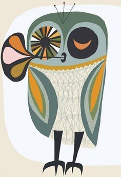 Owl.  13 x 19 print limited edition print by Matte Stephens.. $60.00, via Etsy.