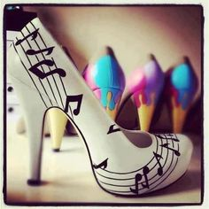Music♥....wedding shoes?  Would prefer a flat :)