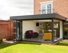 Stunning contemporary orangery extension by Croft conservatories, Preston House Extension Plans, House Extension Design, House Design, Rear Extension, Extension Ideas, Loft Design, Design Design, Orangerie Extension, Conservatory Extension