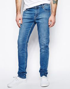 $93, Blue Skinny Jeans: Cheap Monday Jeans Tight Skinny Fit In Base Dark Blue. Sold by Asos. Click for more info: http://lookastic.com/men/shop_items/39077/redirect