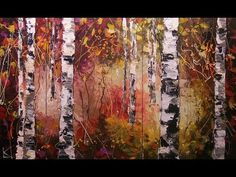 Birch Trees Paintings on canvas | ART by LENA KARPINSKY