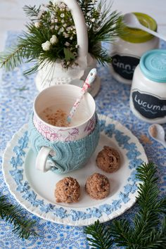 Warm Coconut Almond Nog and Nourishing Raw Cookie Dough