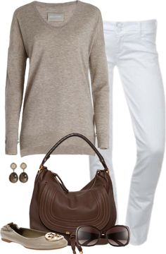 This is a go-to outfit for me in the winter, love neutral colored sweaters