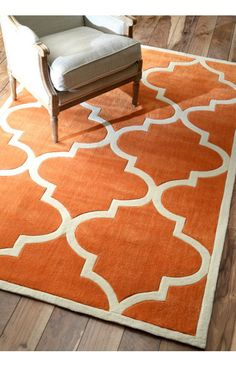 Rugs USA Keno Trellis Copper Rug. Rugs USA Summer Sale up to 80% Off! Area rug, carpet, design,   style, home decor, interior design, pattern, trend, statement,   summer, cozy, sale, discount, free shipping, orange.