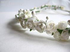 ProjectGallias:#projectgallias, flower hair garland, wedding, flower girl, holly communion, kwiatowy wianuszek na głowę, ślub, komunia, 100% handmade