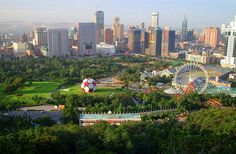 Dalian Dalian China, Places To Travel, Travel Destinations, Great View, Aerial View, Travel Around, Seattle Skyline, Wonders Of The World, Places Ive Been