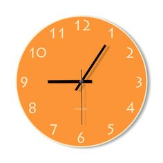 Wall Clock orange clock home decoration wall art by Snowbald