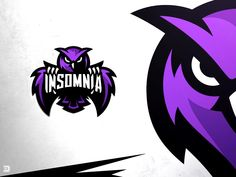 Insomnia Esports Owl Logo by Derrick Stratton on Dribbble Logo Inspiration, Best Sports Quotes, Owl Logo, Logo Design, Graphic Design, Identity Design, Brand Identity, Design Design, Design Ideas