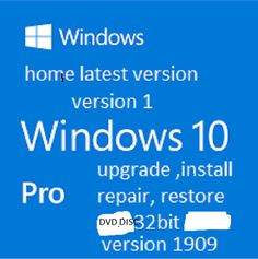 USB Windows 10 Installation Media Home Pro Upgrade Repair 32//64bit SanDisk 16GB