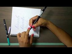 Brush calligraphy | How to hold the brush pen - YouTube