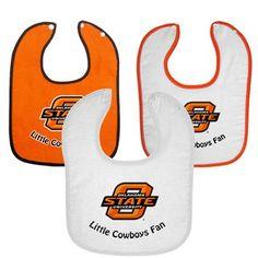 Oklahoma State Cowboys Infant 3-Pack Little Fan Bib Set
