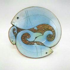 'Peces' - gorgeous ceramic plate