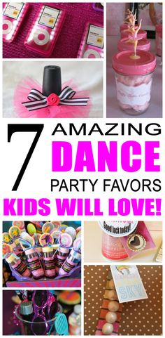 Kim Anne Fun dance party favor ideas for kids and teens. Try these diy dance party favors for boys and girls. Here are some easy goody bags and treats to say thank you to the friends of that special birthday child. Ballerina Party Favors, Boy Party Favors, Party Favors For Kids Birthday, Birthday Ideas, Special Birthday, Birthday Stuff, Party Gifts, Dance Party Kids, Dance Party Birthday