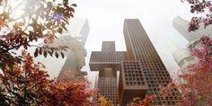 The towers that look like a hashtag –Cross # Towers, Seoul, South Korea