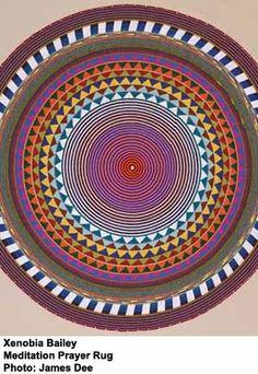 crochet prayer rugs | Meditation Prayer Rug by crochet artist, Zenobia Bailey ...