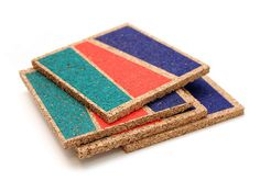 These color blocked coasters add a pop of color to any coffee table, and the geometric design is subtle enough to work most decor. Printed using a