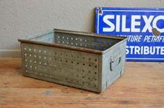 Caisse en métal industriel indus Lager Fix Schafer meuble d'atelier vintage…